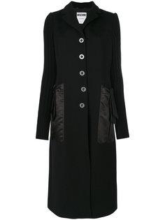 однобортное пальто  Moschino