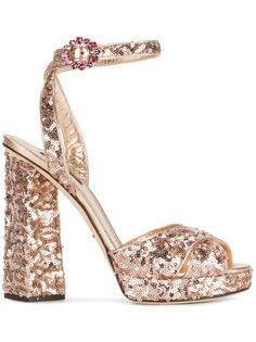 босоножки в пайетки Dolce & Gabbana