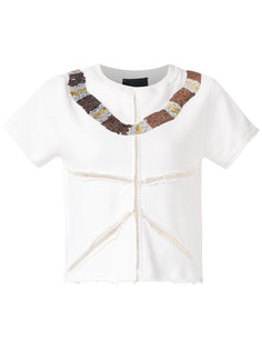 embroidered sweatshirt blouse Andrea Bogosian