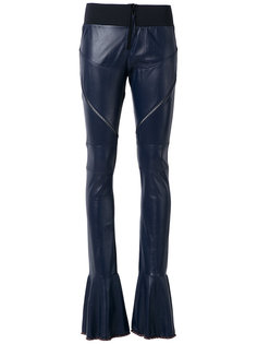 leather flared trousers Andrea Bogosian