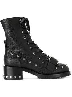 массивные байкерские ботинки с заклепками Nº21