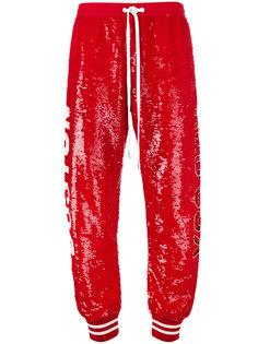 спортивные брюки с отделкой пайетками  Ashish