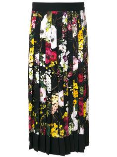 юбка миди с цветочным принтом Dolce & Gabbana