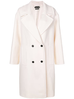 классическое двубортное пальто Tom Ford