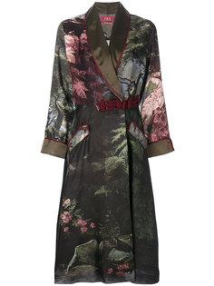 пальто-тренч с цветочным принтом  F.R.S For Restless Sleepers