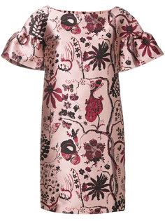 платье с цветочной вышивкой  Alberta Ferretti