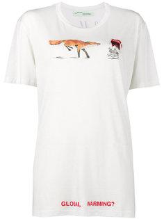 свободная футболка Global Warming Off-White