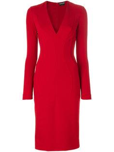 приталенное платье миди  Tom Ford