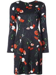 платье шифт с цветами Oscar de la Renta