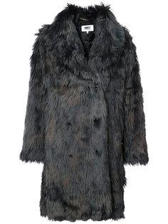 объемная куртка из искусственного меха Mm6 Maison Margiela