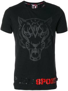 футболка с вышивкой тигра Plein Sport