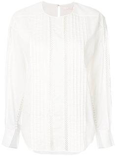 блузка с длинными рукавами и сетчатой вставкой  Chloé