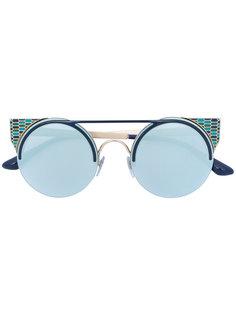 enamelled round sunglasses Bulgari