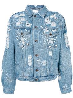 джинсовая куртка с отделкой  Forte Couture