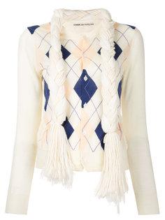 свитер в ромбик Comme Des Garçons