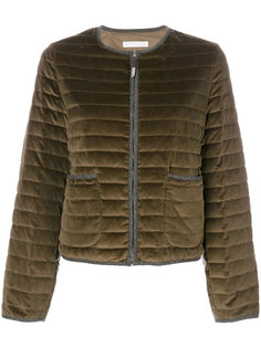 crew neck zipped up puffer jacket Fabiana Filippi