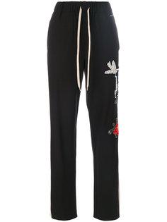 спортивные брюки с вышивкой P.A.R.O.S.H.