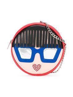 сумка с аппликацией в виде лица Simonetta