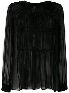 полупрозрачная присборенная блузка  Nº21