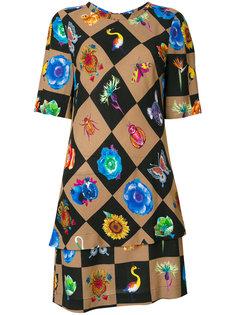 платье миди в ромбик  Etro