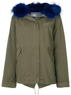 пальто с меховой отделкой  Army Yves Salomon