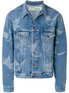 джинсовая куртка с принтом птиц Off-White