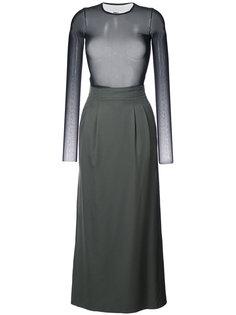 комбинированное платье Mm6 Maison Margiela