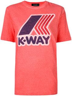 футболка с принтом K-Way Dsquared2
