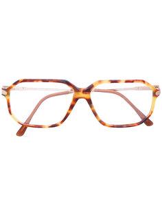 tortoiseshell square glasses Persol Vintage