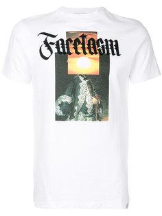 футболка с принтом логотипа Facetasm