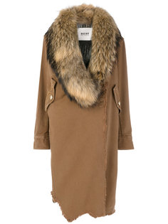 состаренное асимметричное пальто  Bazar Deluxe