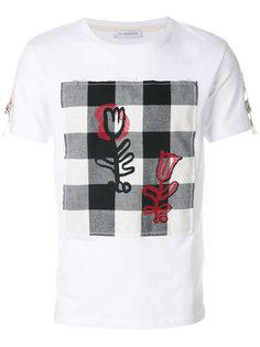 футболка с панелью в клетку J.W.Anderson