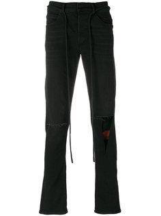 джинсы с клетчатыми вставками Off-White