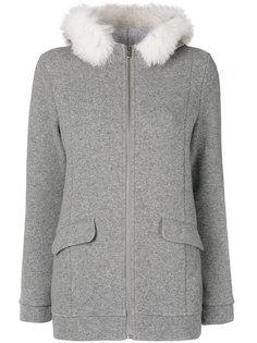 куртка на молнии с меховым воротником  Woolrich