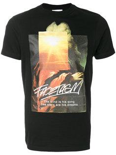 футболка с принтом Facetasm