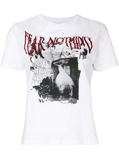 футболка с принтом Fear nothing McQ Alexander McQueen