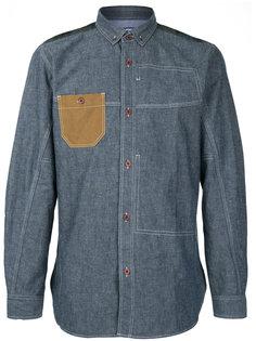 джинсовая рубашка с контрастным карманом Junya Watanabe Comme Des Garçons Man