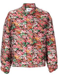 куртка с цветочным узором  MSGM