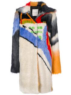 colour-block coat Marco De Vincenzo
