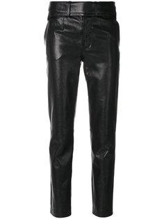 байкерские брюки скинни Saint Laurent