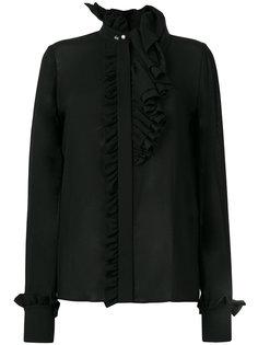 блузка с оборкой  Lanvin