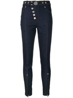 джинсы скинни на кнопках Alexander Wang