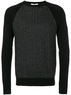 свитер с узором Salvatore Ferragamo
