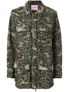 камуфляжная куртка с вышивкой Palm Angels