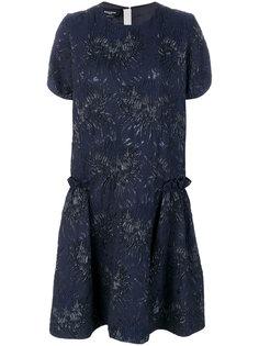 жаккардовое платье шифт Rochas