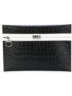 клатч с контрастной отделкой Mm6 Maison Margiela