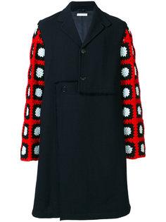 пальто с контрастными рукавами J.W.Anderson