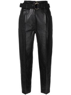 байкерские брюки с поясом Petar Petrov
