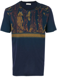 футболка с принтом медведя и оленя Etro