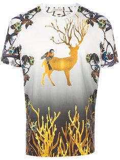 футболка с принтом оленя Etro